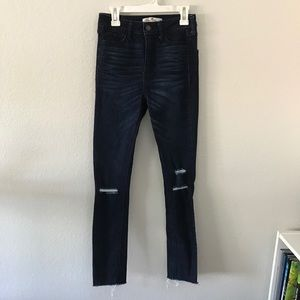 Hollister Denim Distressed Skinny Jeans